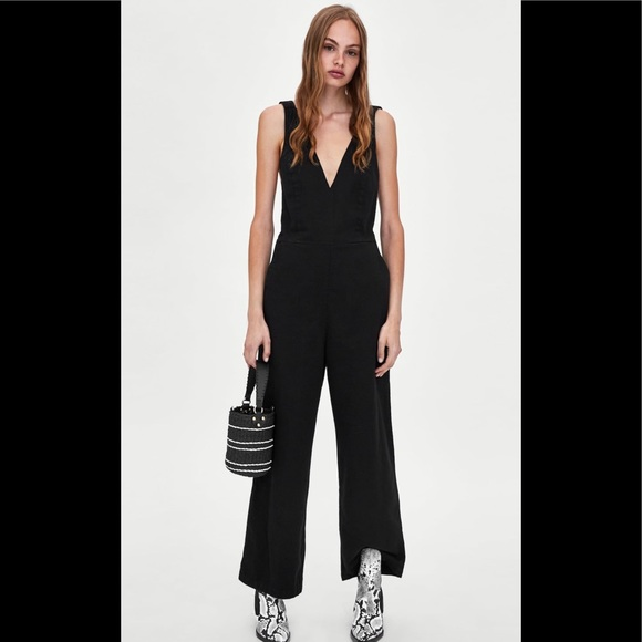 ce05898a Zara Pants | Nwt Trf Collection Black Overalls | Poshmark